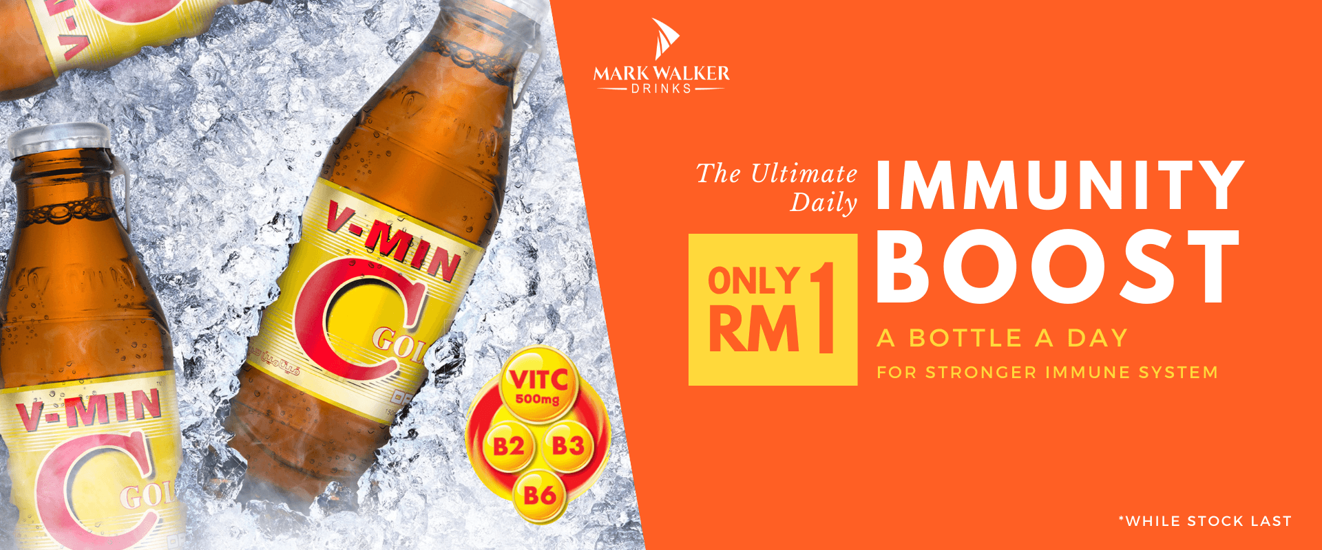 Mark Walker Drink riches with Vitamin C and B. Only RM1, get your immunity booster today