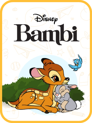 Bambi, Cars, Chip 'n' Dale, Donald Duck-1